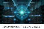 digital screens interface with... | Shutterstock . vector #1167194611