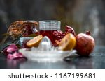 close up of herbal face pack of ...   Shutterstock . vector #1167199681