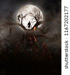 nightmare tree woman discover a ... | Shutterstock . vector #1167202177