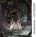 ghost woman in the woods 3d...   Shutterstock . vector #1167202204