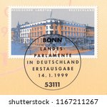germany circa 1999 a stamp... | Shutterstock . vector #1167211267