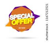 special offer  sale banner... | Shutterstock .eps vector #1167212521