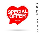 special offer  valentines day... | Shutterstock .eps vector #1167214714