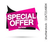 special offer  sale banner... | Shutterstock .eps vector #1167214804