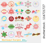 vector set  vintage mixed candy ...   Shutterstock .eps vector #116721727