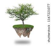 floating island image | Shutterstock . vector #1167221077