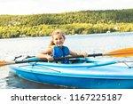 summer vacation portrait of... | Shutterstock . vector #1167225187