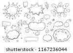 set of speech bubbles comic... | Shutterstock .eps vector #1167236044