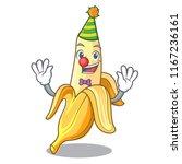 clown tasty fresh banana mascot ... | Shutterstock .eps vector #1167236161