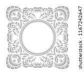 square frame in cut of paper... | Shutterstock .eps vector #1167242647