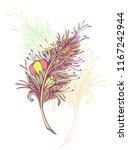 decorative  feather in zen... | Shutterstock .eps vector #1167242944