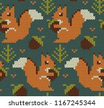 Squirrel Jacquard Knitted...