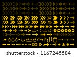 set of yellow arrows icon | Shutterstock .eps vector #1167245584