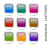 colored web button set | Shutterstock . vector #116724601