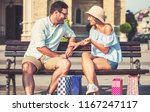 couple take a rest after... | Shutterstock . vector #1167247117