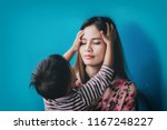 child play with mom on against... | Shutterstock . vector #1167248227