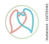 two hearts unite in infinity... | Shutterstock .eps vector #1167251461