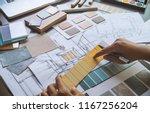 architect designer interior... | Shutterstock . vector #1167256204