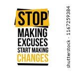 stop making excuses  vector...   Shutterstock .eps vector #1167259384