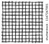 freehand drawn grid structure... | Shutterstock .eps vector #1167267001