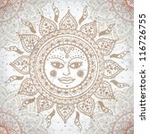 vintage background with ethnic... | Shutterstock .eps vector #116726755