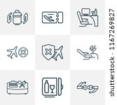 travel icons line style set... | Shutterstock .eps vector #1167269827