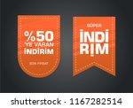 indirim etiketleri yazilari.... | Shutterstock .eps vector #1167282514