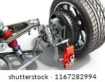electric car cystem wheelbase... | Shutterstock . vector #1167282994