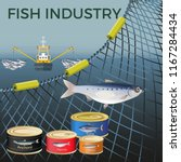 banner for marine products with ... | Shutterstock .eps vector #1167284434