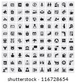 vector black 100 business web...   Shutterstock .eps vector #116728654