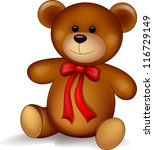 Cute Teddy Bear Isolated On...