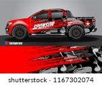 cargo truck decal wrap design... | Shutterstock .eps vector #1167302074
