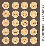 Vector Set Of 20 Faces For Cha...