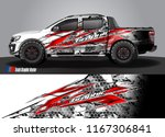 pick up truck and car decal... | Shutterstock .eps vector #1167306841