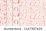 collection of autumn patterns... | Shutterstock .eps vector #1167307624