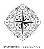 vector illustration of compass. ... | Shutterstock .eps vector #1167307771