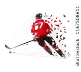 ice hockey player skating with... | Shutterstock .eps vector #1167308611