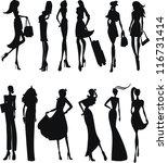 a lot of vector black... | Shutterstock .eps vector #116731414
