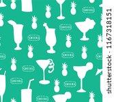 cocktail glass seamless vector... | Shutterstock .eps vector #1167318151