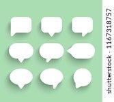 speech bubbles icons set. chat...