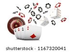 playing cards and poker chips... | Shutterstock .eps vector #1167320041