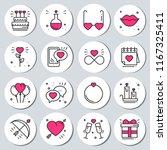 st valentine's day round... | Shutterstock .eps vector #1167325411