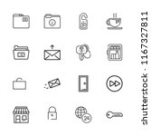 collection of 16 open outline... | Shutterstock .eps vector #1167327811