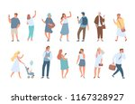 flat vector people background... | Shutterstock .eps vector #1167328927