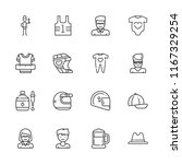collection of 16 cap outline... | Shutterstock .eps vector #1167329254