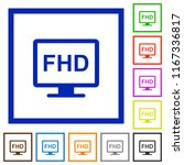 full hd display flat color... | Shutterstock .eps vector #1167336817