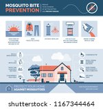 mosquito bite prevention... | Shutterstock .eps vector #1167344464