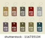 price tag with retro pattern in ... | Shutterstock .eps vector #116735134