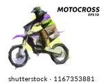 motocross from triangles.... | Shutterstock .eps vector #1167353881
