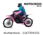 motocross from triangles. low... | Shutterstock .eps vector #1167354151